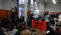 Enfrentados. Docentes cuestionan al sindicato de Secundaria. Foto: Archivo El País.