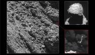 La foto muestra el punto en el que se encuentra el módulo Philae. Foto: EFE