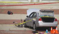 El auto utilizado por el atacante en el campus. Foto: Reuters