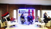 Miranda, Sánchez, Conde y Bayardi respondiendo preguntas. Foto: Marcelo Bonjour