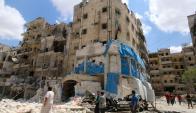 Hospital Al Quasd fue destruido tras ser bombardeado. Foto: Reuters