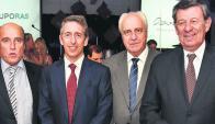 Daniel Martínez, Ruben Azar, Víctor Rossi y Rodolfo Nin Novoa. Foto: El País