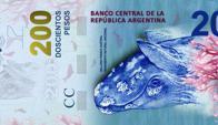 Nuevo billete de $200. Foto Banco Central de la República Argentina