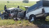 Accidente fatal en la Ruta 5 dejó dos heridos y cuatro lesionados. Foto: Víctor Rodríguez