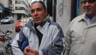 Luis Mario Vitette a la salida del juzgado en 2013. Foto: Ariel Colmegna.