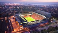 Estadio de Anfield en Liverpool