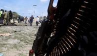 Uno de los objetivos del ataque fue un cuartel de la Unión Africana. Foto: Reuters.