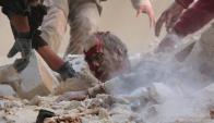La mayoría de las víctimas son civiles. Foto: AFP.