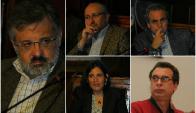 Lasida, Da Silveira, Bentancor, Opertti y Filgueira, miembros de EDUY21. Fotos: El País.