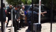 Juicio: Figueredo cuando llegaba a declarar por primera vez. Foto: AFP