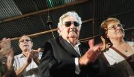 Mujica durante la presentación de Agarrate Catalina. Foto: Juan Gari.