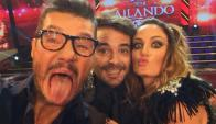 Marcelo Tinelli, Paula Cháves y Peter Alfonso