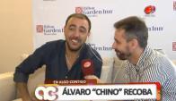 """""""Chino"""" Recoba y Daniel Alejandro (Foto: captura tv)"""