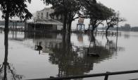 Las últimas precipitaciones y las que pronostican amenazan con desbordes. Foto: L. Pérez