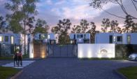 Novedad. El barrio privado ofrecerá casas de dos, tres y cuatro dormitorios, y apunta a seducir a un público de clase media o media alta. (Foto: Gentileza MV+Arquitectos)
