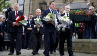 Honores. David Cameron y los principales líderes políticos británicos rindieron homenaje a la diputada laborista fallecida. Foto: Reuters.