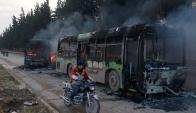 Evacuación en Aleppo. Foto: Reuters