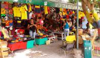 Los alrededores del Metropolitano de Barranquilla van tomando color. Foto: Ángel Asteggiante.