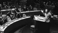 Castro era hombre de largos discursos, con palabras cautivantes. Solía hablar por horas sin leer. Foto: Reuters.