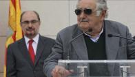 José Mujica inauguró una plaza en España en homenaje a José Artigas. Foto: EFE