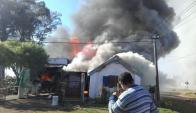 La localidad d Fraile Muerto fue escenario de varios incendios sin auxilio. Foto: N. Araújo
