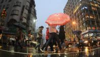 Día de lluvia en Montevideo