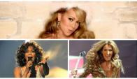 Mariah Carey, Whitney Houston y Celine Dion