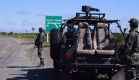 Ensayo ante la amenaza terrorista. Foto: Ejército
