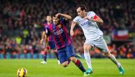 Suárez y Godín vuelven a enfrentarse en un Barcelona-Atlético. Foto: EFE.