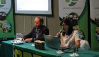 Coordinador Diego Sotelo y presidenta Eugenia Oholeguy. Foto: Fucrea