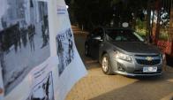 El jerarca militar usó un auto del Ejecutivo para ir al sepelio. Foto: F. Ponzetto