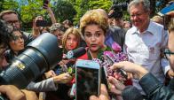 Rousseff hizo ayer una nueva aparición pública. Foto: AFP