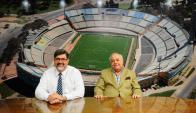 """Estadio. Romano y Baldrich: """"Lo mantenemos en estado aceptable, cumpliendo requisitos de la Intendencia, el Cuerpo de Bomberos, y con las partes técnicas vigiladas"""". Foto : Marcelo Bonjour"""