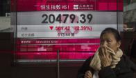 La bolsa de valores de Hong Kong fue una de las más afectadas tras el desplome en China. Foto: EFE.