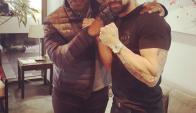 Luciano Castro con Mike Tyson. Foto: @castrolucianoOk
