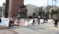 Delegaciones de 11 departamentos se manifestaron. Foto: R. Figueredo