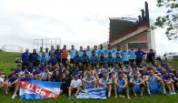 Los planteles. Jugadores de fútbol, básquetbol, futsal, handball y ajedrez representaron a la Liga en São Leopoldo.