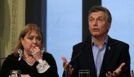 Malcorra y Macri. La canciller y el presidente marcaron el cambio de rumbo de su país y lideran el accionar del Mercosur hacia afuera. Foto: EFE.