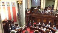 Homenaje a Jorge Batlle en el Senado. Foto: Twitter @MDBSBC