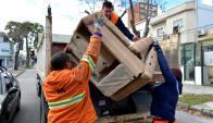 recolección de basura de gran porte. Foto: IMM