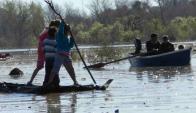 En enero hubo 6.682 desplazados por la crecida del río. Foto: Daniel Rojas.
