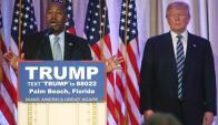 Ben Carson se sumó a la campaña de Donald Trump. Foto: Reuters.