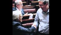 Gonzalo Mujica y Eduardo Rubio. Foto: Darwin Borrelli