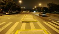 El primer desvío fue en la zona de la largada, sobre Avenida de las Leyes, Avenida Libertador y Yaguarón, donde se hicieron obras y canteros nuevos que modificaron el circuito de la prueba. Foto: Darwin Borrelli.