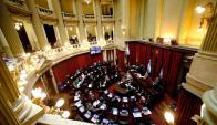 Senado argentino durante la sesión que se aprobó el pago a los buitre. Foto: Reuters