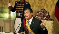 """""""Queremos escuchar y hablar, no insultos ni infamias"""" dijo Rafael Correa Foto: Reuters"""