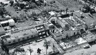 Así se veía desde el aire los estragos causados por el tornado en Fray Marcos. Foto: archivo El País