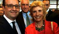 François Hollande, Julia Rodriguez Larreta.