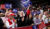 Militantes de Trump en Grand Rapids, Michigan. Foto: AFP