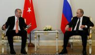 Erdogan recibió un respaldo clave luego del fallido golpe de estado del presidente Putin. Foto: Reuters